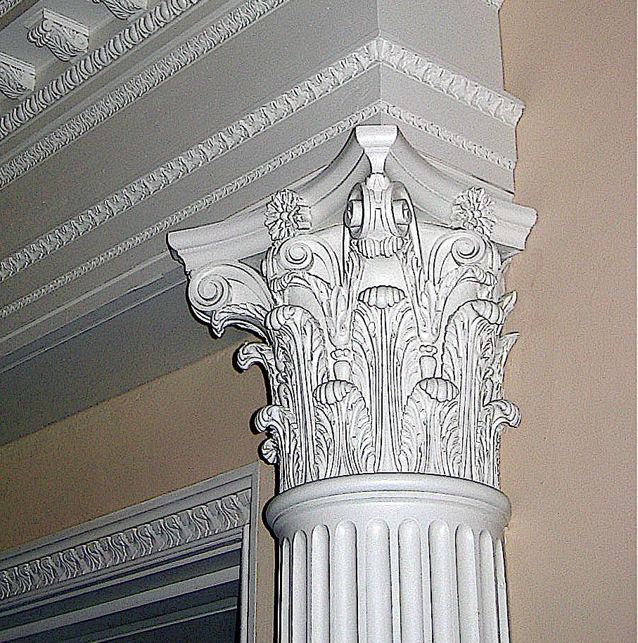 Hand-carved Corinthian capital by Agrell Architectural Carving
