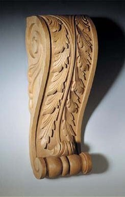 Agrell Architectural Carving: In stock - hand carved acanthus bracket