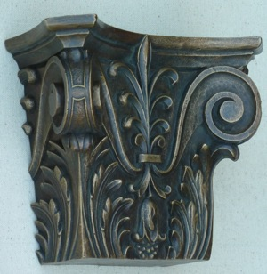 Agrell Architectural Carving: Bronze cast capital