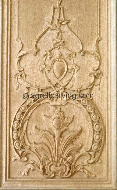 Agrell Architectural Carving: Hand carved wooden panel Louis XIV