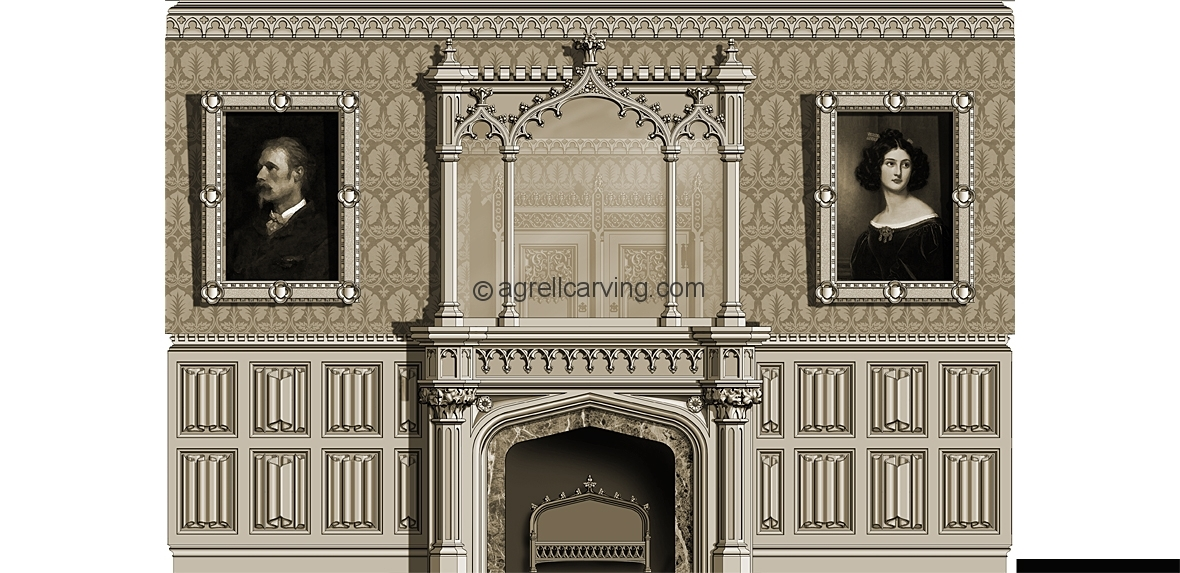 Gothic Room Agrell Architectural Carving