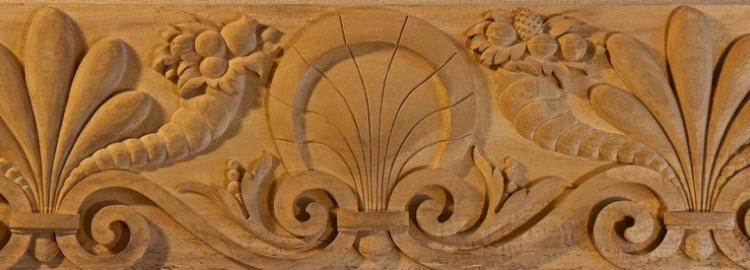 Agrell Carving: Baroque hand carved frieze in wood.