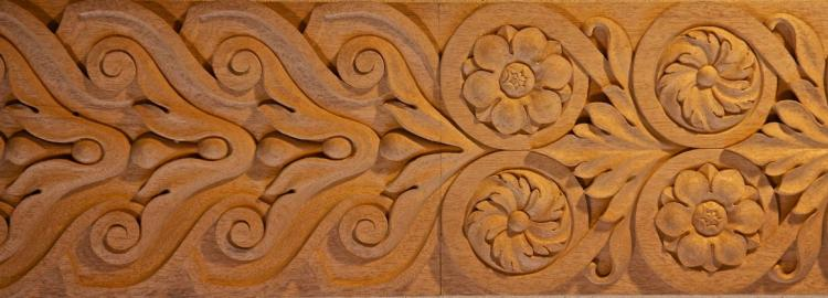 Agrell Carving: Baroque hand carved panel in wood.