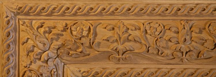 Agrell Carving: Hand carved Italian Renaissance frame. 16th Century.
