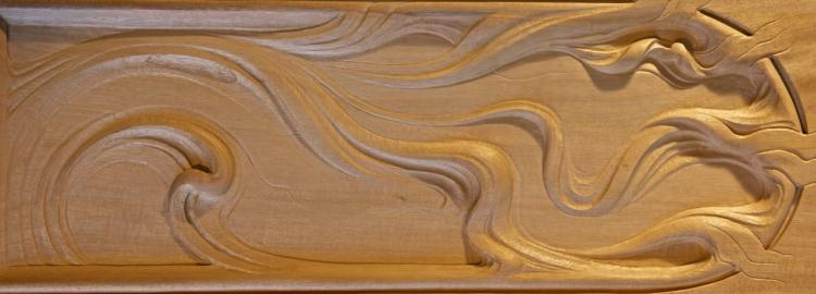 Agrell Carving: Unique panel.