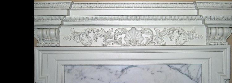 Agrell Carving: Carved fireplace for Fulham Palace, London