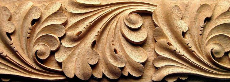 Agrell Carving: Hand carved ornament. Abbey of Larchand circa 13th century.