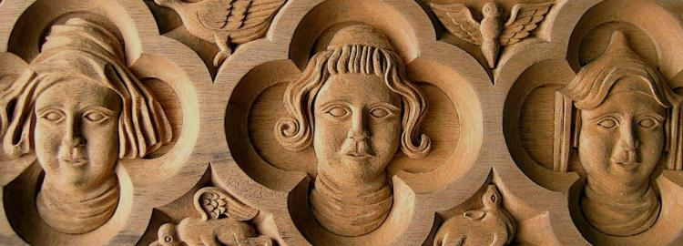 Agrell Carving: Hand carved Gothic panel. Rouen Cathedral.