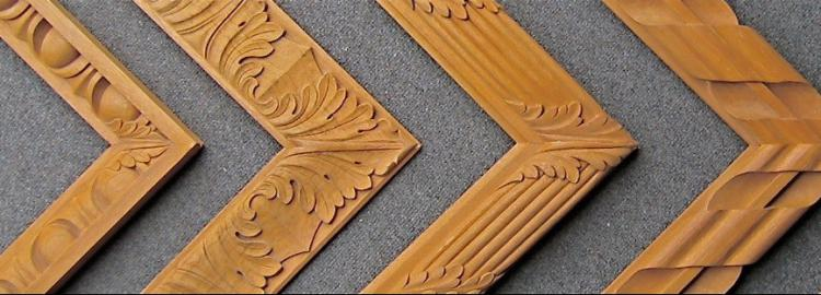 Agrell Carving: Hand carved mouldings showing corner situation.