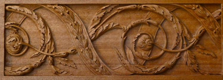 Agrell Carving: Sheraton design carved frieze.