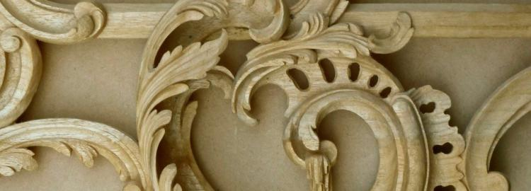 Agrell Carving: Rococo detail mirror frame. English circa 1760.