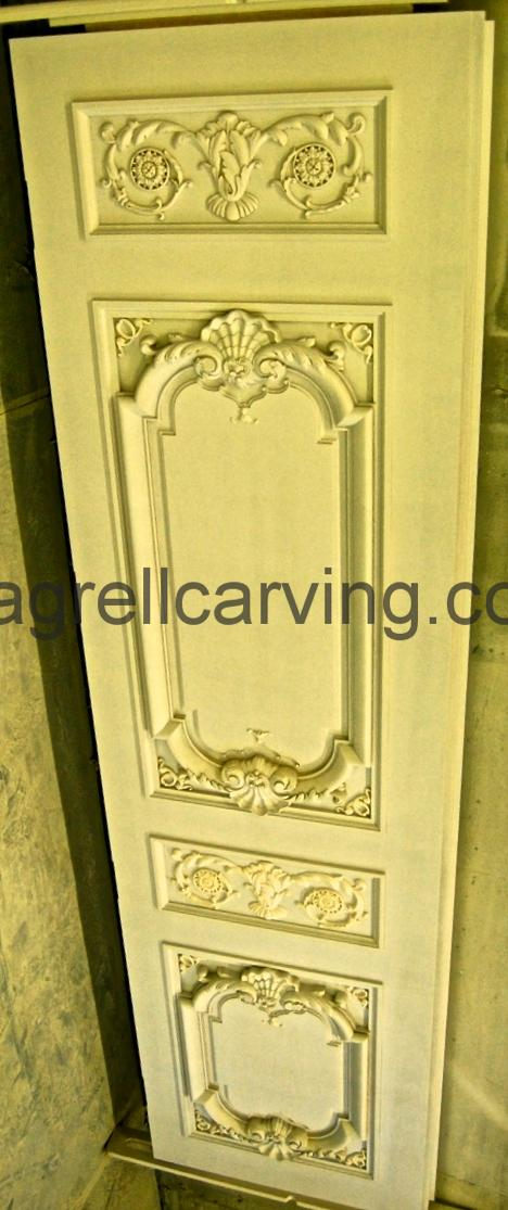 Agrell Architectural Carving French paneled door for 100 Park Lane Dudley House 50ft Ballroom