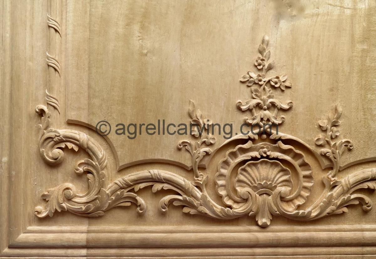 Agrell Architectural Carving French hand carved wood paneling copy of Versaille